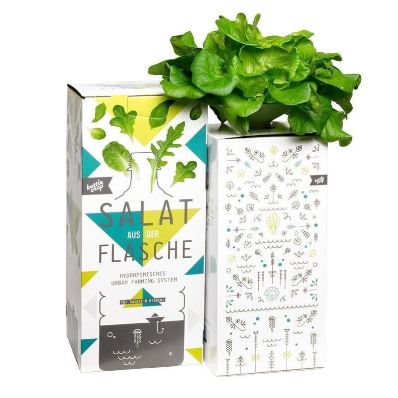 BottleCrop Eichblattsalat aus der Flasche Hydroponisches System Urban Gardening